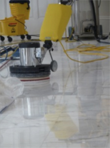 Stone Marble Floor Cleaning And Waxing Annadelle Spotless - How to polish marble floors by machine